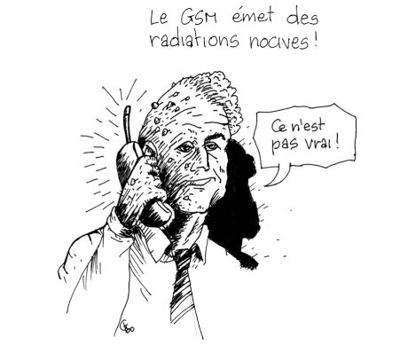 Les dangers du GSM, illustrés par Gilderic