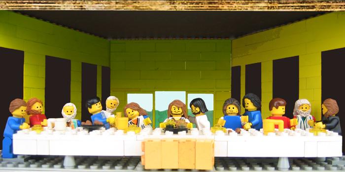La Cène de Léonard de Vinci récrée en LEGO par Marco Pece