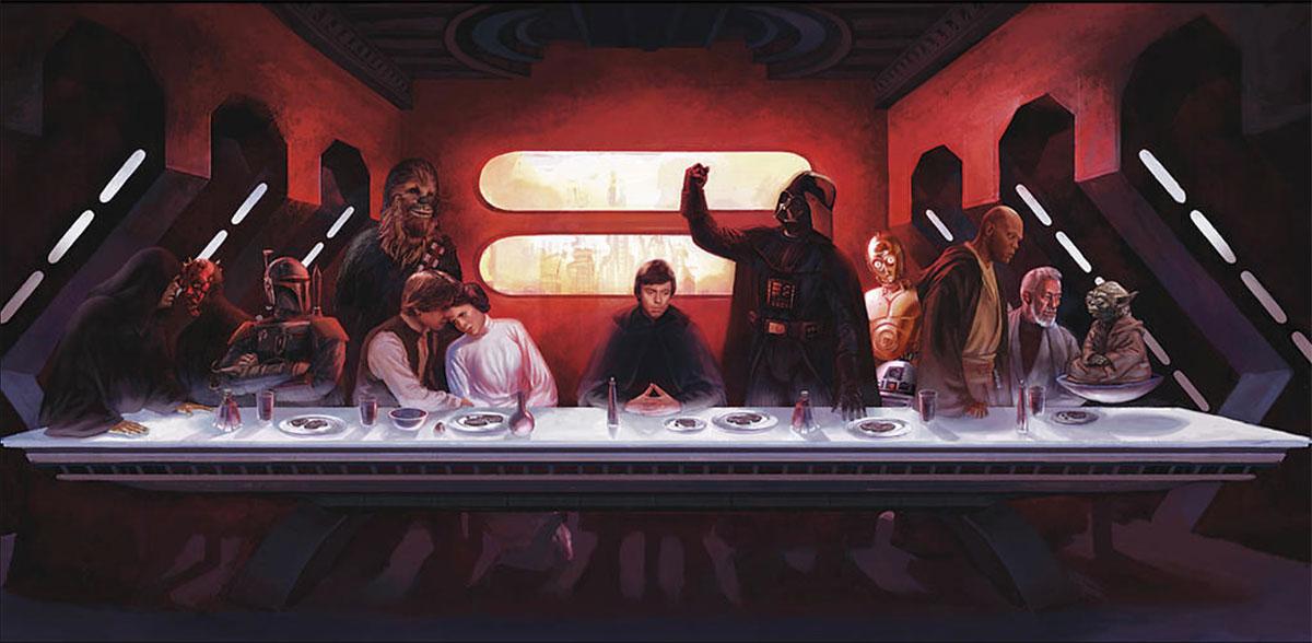 La Cène (The Last Supper) version Star Wars, parodie de Léonard de Vinci par Eric Deschamps