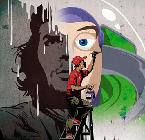 Buzz l'Eclair vs Che Guevara (Illustration par Asaf Hanuka)