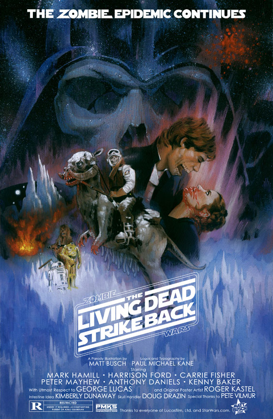 Zombie Wars : The Living Dead Strike Back (affiche parodique par Matt Busch)
