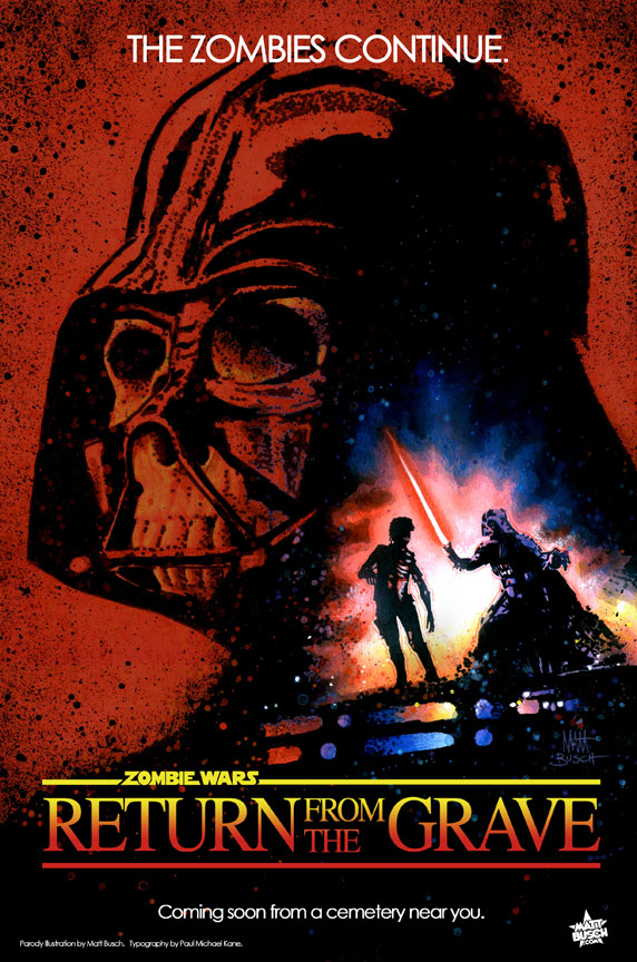 Zombie Wars : Return from the Grave - Star Wars Parody poster par Matt Busch