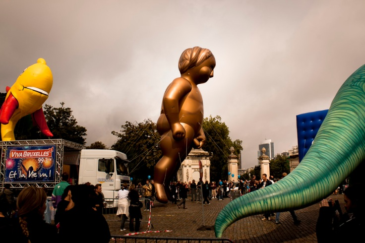 Ballon Manneken Pis Géant (Balloon's Day Parade, Bruxelles) - Photo : Fred Giet (Gilderic)