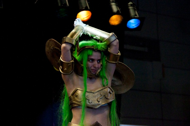 Green Hair Warrior Girl (Anime manga games cosplay FACTS 2010) Photo : Gilderic