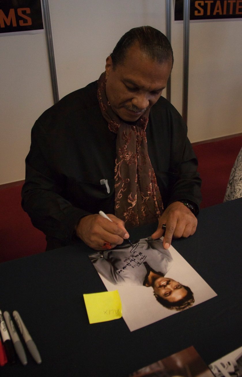 Billy Dee Williams (Lando Calrissian dans Star Wars) dédicace - Photo : Gilderic