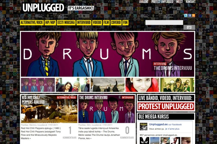 The Drums sur Unplugged - illustration de Gilderic