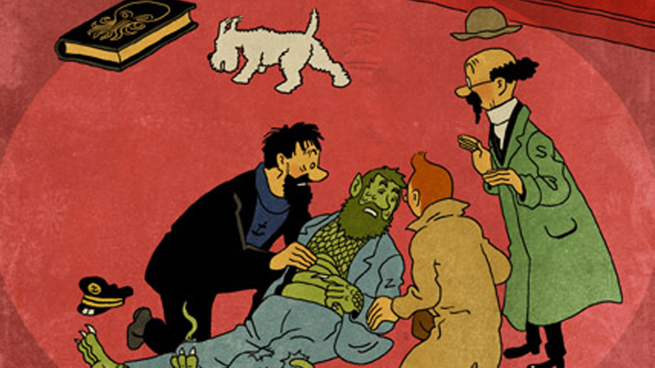 Tintin vs Lovecraft