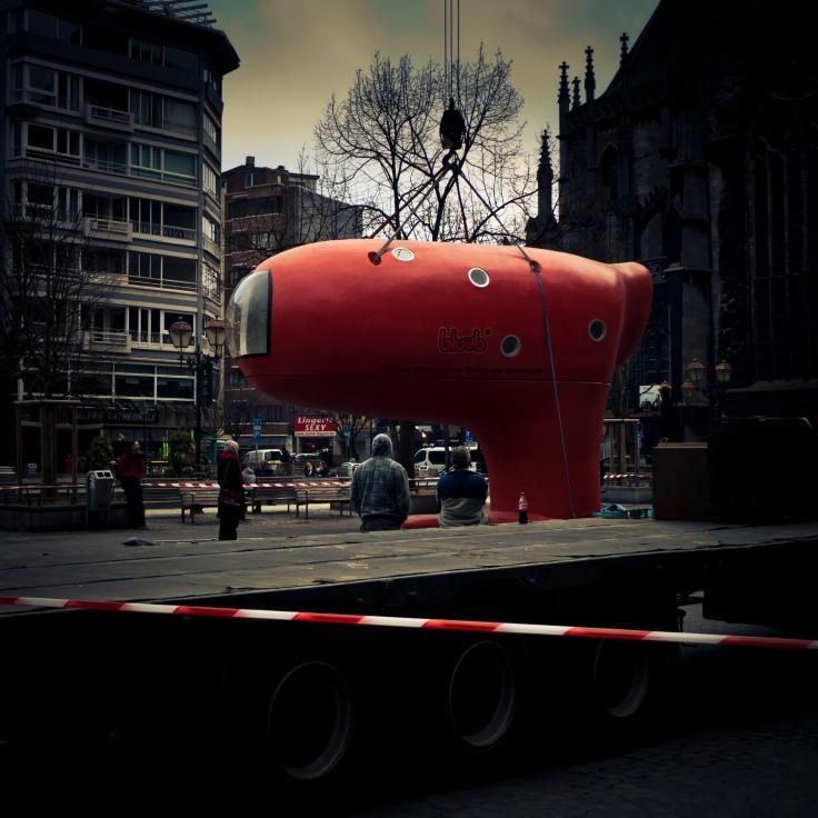 Bluub (Place Cathédrale, Liège) - Photo : Gilderic