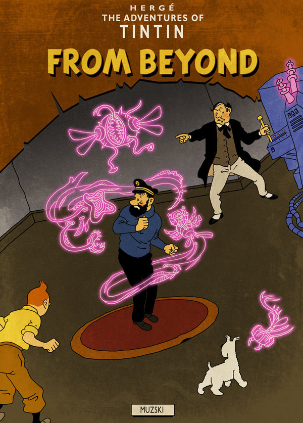 Tintin From Beyond by Muzski (Hergé & Lovecraft)