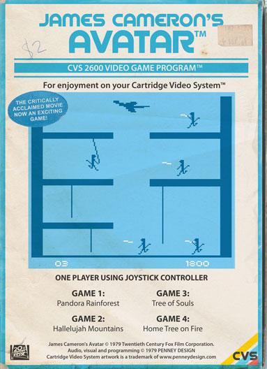 Avatar - le jeu video rétro 8-bit par Penney Design