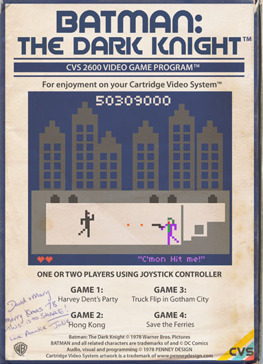 Batman the Dark Night - le jeu video retro 8-bit imaginé par Penney design