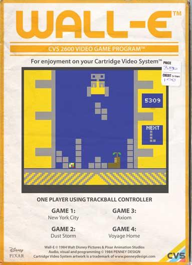 Wall-E- le jeu video rétro 8-bit par Penney Design
