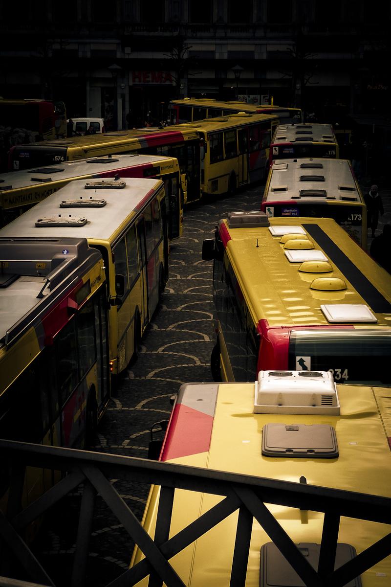 Bus en grève (TEC Liège) - Photo : Gilderic