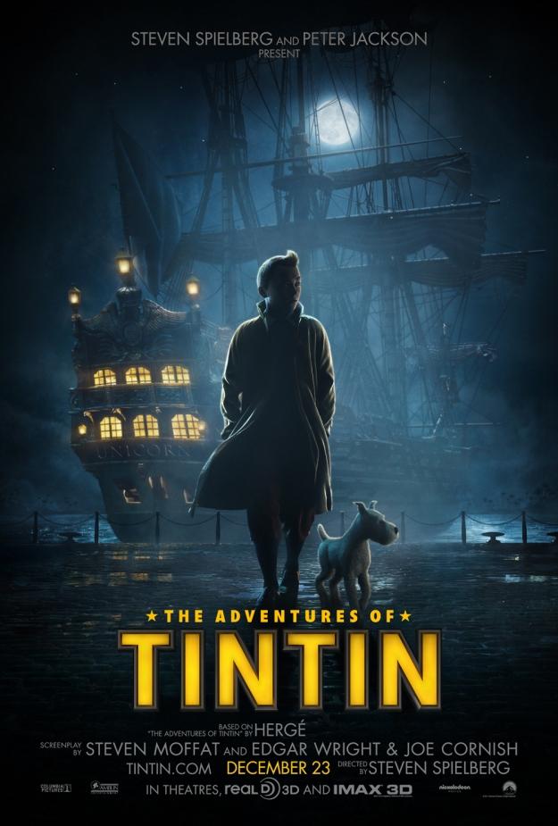 Tintin & the Secret of the Unicorn (affiche américaine)