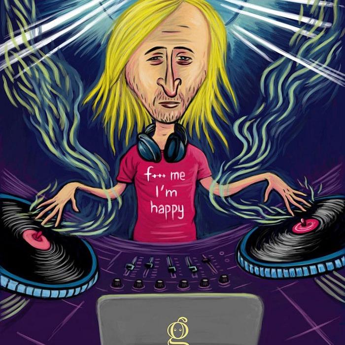 David Guetta caricature - Dessin de Gilderic