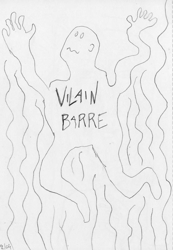 Vilain-Barré par Gilderic (première page du storyboard)