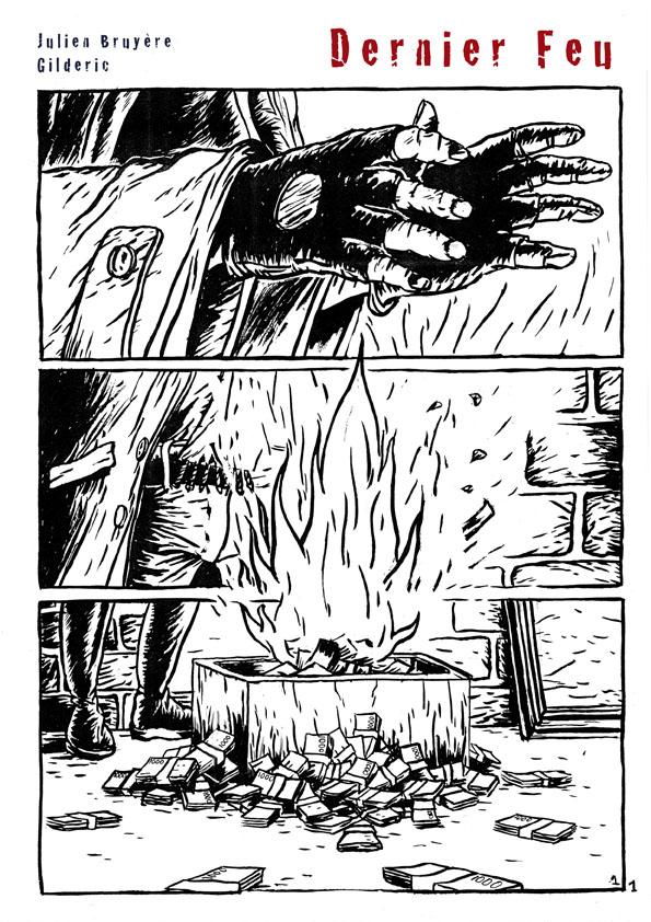 Dernier feu (n&b) 1 - Une bd apocalyptique de J. Bruyère et Gilderic