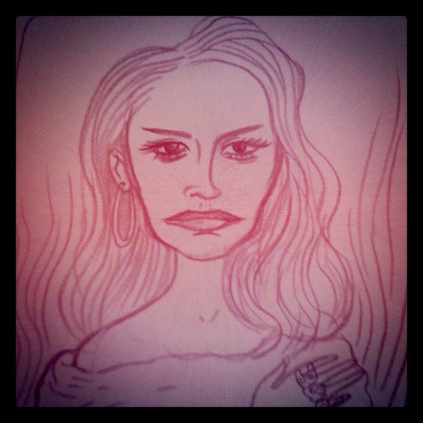 Lana Del Rey - Illustration de Gilderic