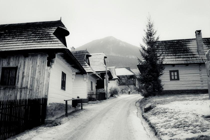 Les maisons en bois de Vlkolinec (Photo : Gilderic)