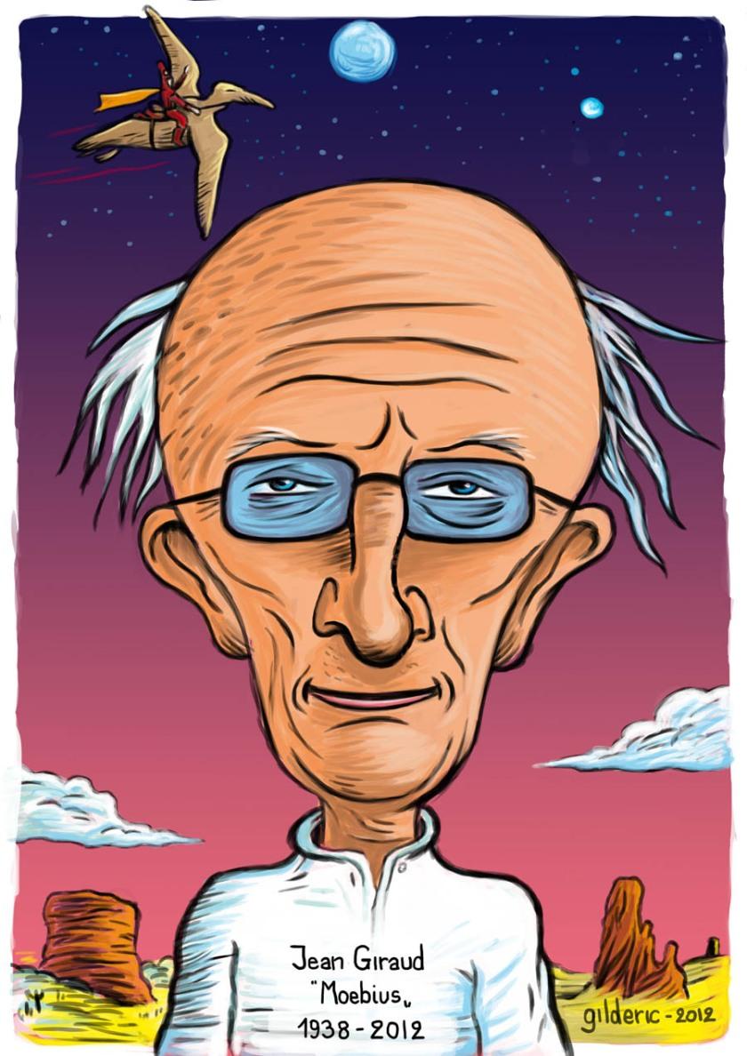 Jean Giraud (portrait-caricature par Gilderic)