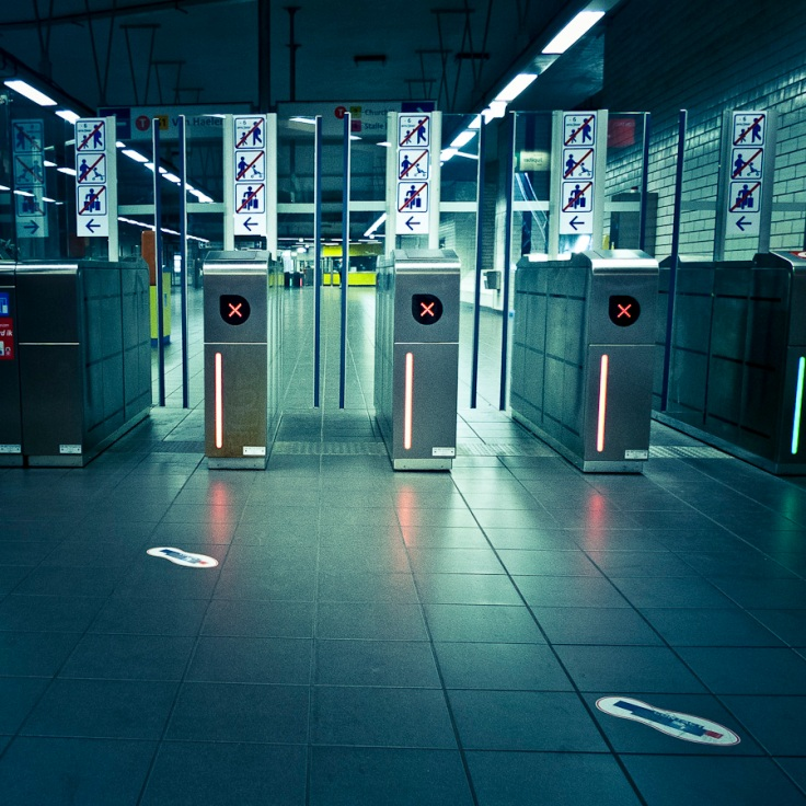 Station de métro Albert, Bruxelles - Photo : Gilderic