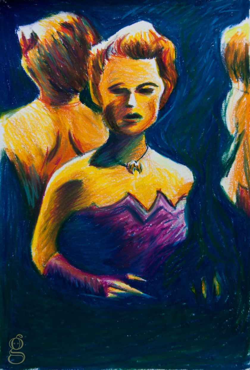 Femme Fatale (Rita Hayworth) - Illustration : Gilderic