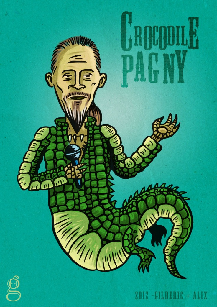 Crocodile Pagny (Florent Pagny) - Illustration : Gilderic