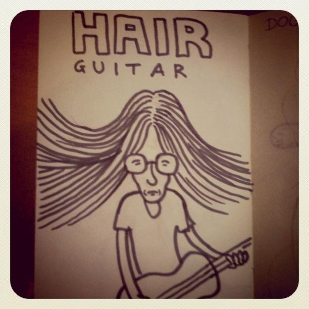 Hair Guitar (dessin & photo : Gilderic)