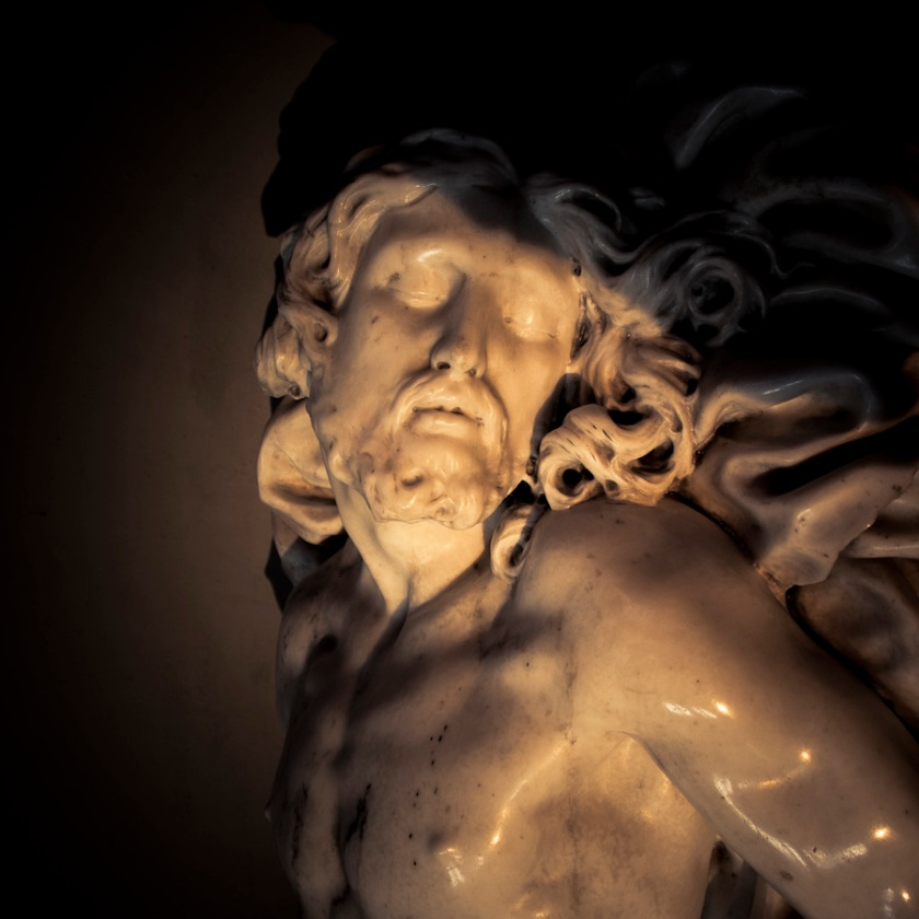 Christ (détail) par Jean Del Cour, Cathédrale Saint-Paul, Liège (Photo : Gilderic)