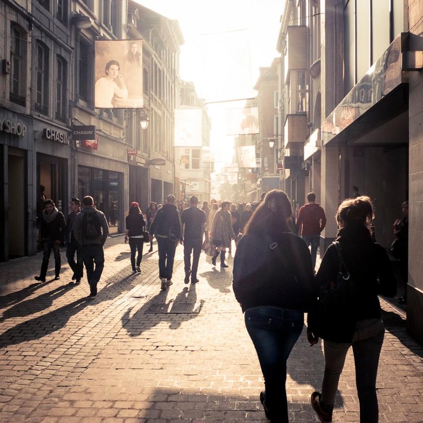 La rue des Images (Y'a de l'amour en l'air) - Liege - Photo : Gilderic