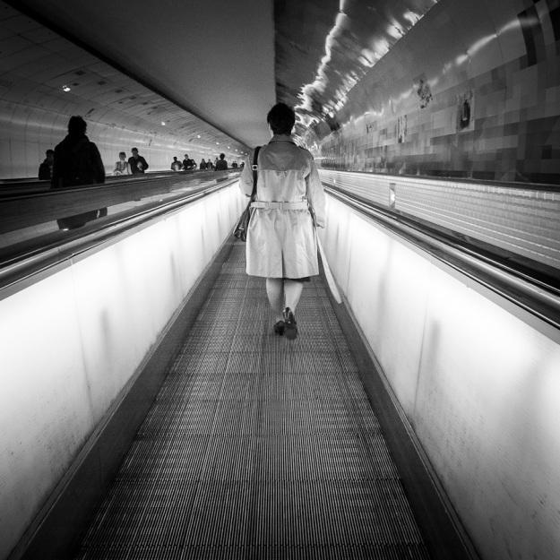 Montparnasse Underground (noir et blanc) - Paris Métro - Photo : Gilderic