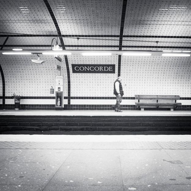 Mythologies urbaines : Concorde (version n&b) - Paris, métro - Photo : Gilderic