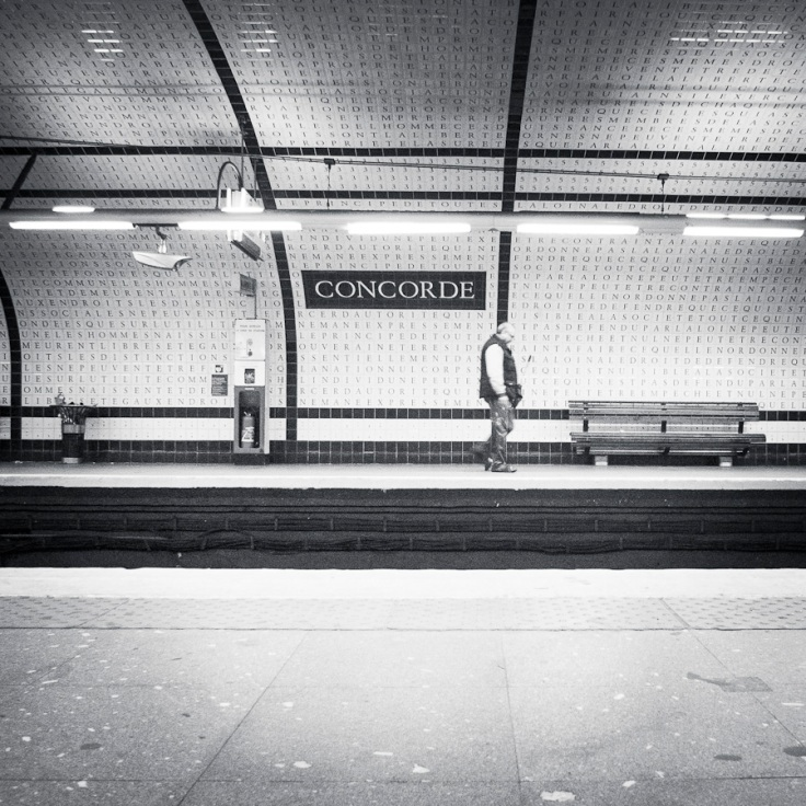 Mythologies urbaines : Concorde (version n&b) - Paris, métro - Photo : Gilderic