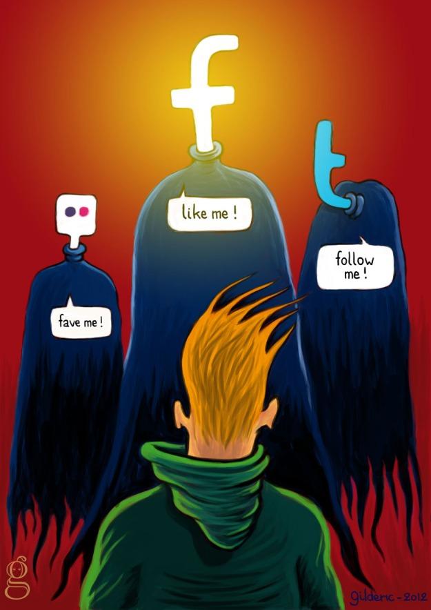 Like me ! Follow me ! Fave me ! - Illustration : Gilderic
