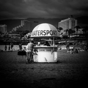 Watersport (N&b), Ténérife - Photo : Gilderic