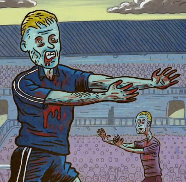Foot Zombie (détail) - Illustration : Gilderic