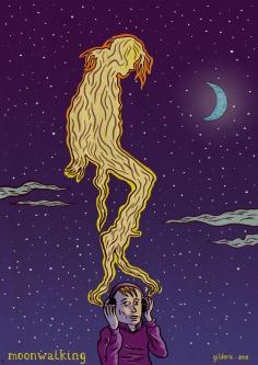 Moonwalking (tribute to Michael Jackson) - Illustration : Gilderic