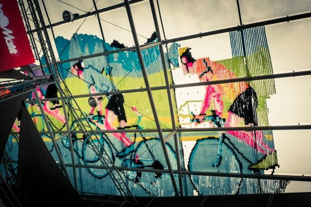 Post-it Art Tour de France (Galerie Saint-Lambert, Liège) - Photo : Gilderic