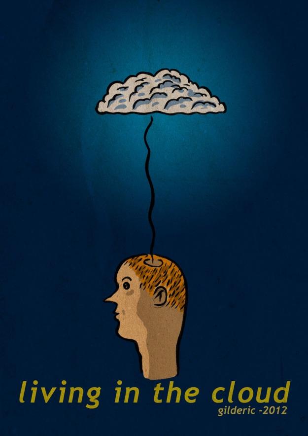 Living in the Cloud - Illustration de Gilderic