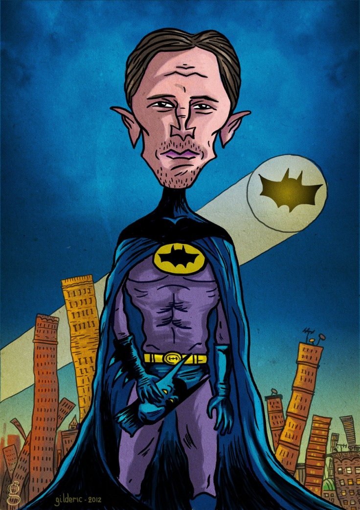 Christian Bale (Batman) - Caricature dessinée par Gilderic