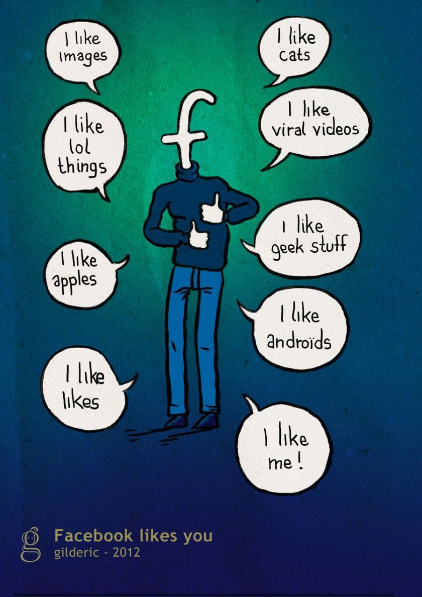 Facebook likes you - Illustration de Gilderic