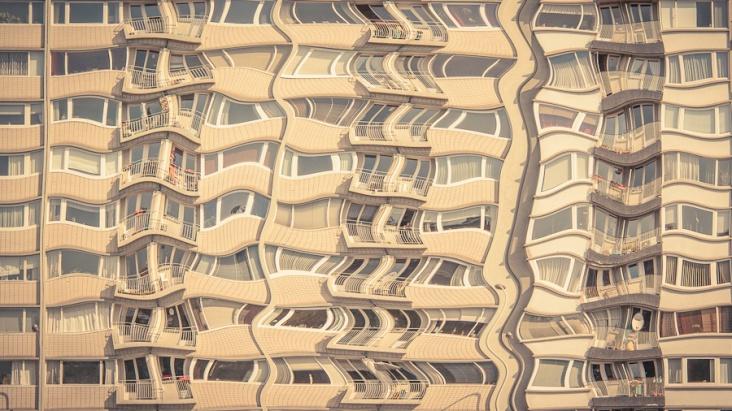 Canicule (Heat Wave) - Building melting, Liège (Photo : Gilderic)