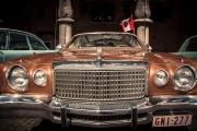 Rallye BD à Liège : voitures de collection (Chrysler) dans la cour du Palais des Princes Eveques - Photo : Gilderic