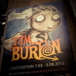 Exposition Tim Burton, Cinémathèque française (détail de l'affiche) - Photo : Gilderic