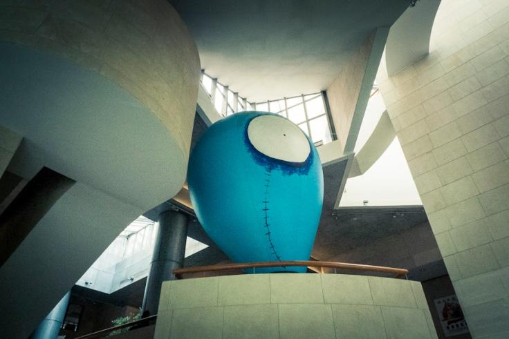 Sculpture d'après Tim Burton (Expo Tim Burton, Cinémathèque de Paris) - Photo : Gilderic