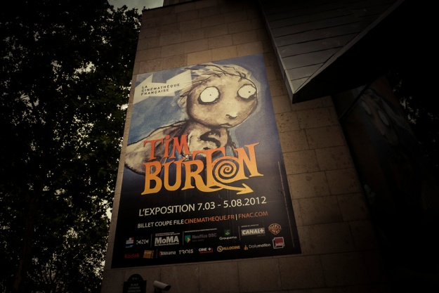 Exposition Tim Burton à la Cinémathèque de Paris (Affiche) - Photo : Gilderic