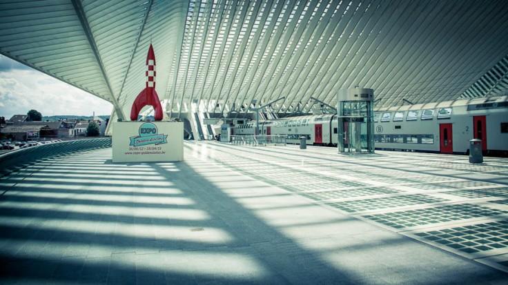 Fusée Lunaire de Tintin (expo Sixties) - Gare des Guillemins - Photo : Gilderic