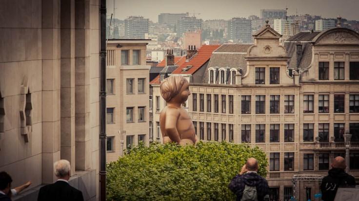 Manneken Pis géant, Balloon's Day Parade, Mont des Arts, Bruxelles - Photo : Gilderic