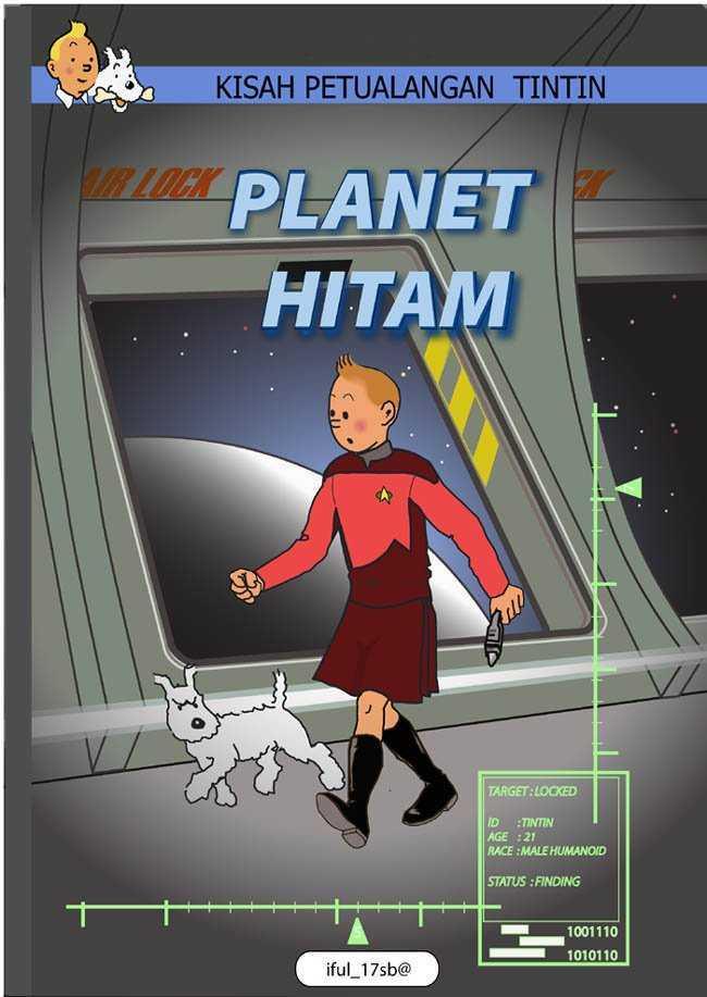 Tintin et Milou vs Star Trek par iful_isb@