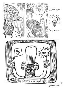 Taupe Chef page 12 (noir et blanc) - Une BD de Gilderic